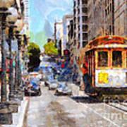 The Streets Of San Francisco . 7d7263 Art Print