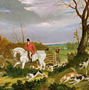 The Suffolk Hunt - Going To Cover Near Herringswell Art Print