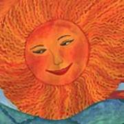 The Sun God Detail Of Red Sky At Night Art Print