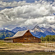 The T. A. Moulton Barn In Grand Teton National Park Art Print