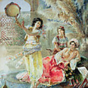 The Tambourine Print by E Raggi