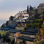 The Terraces Of Amalfi Art Print
