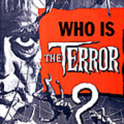 The Terror, Boris Karloff On 1 Sheet Art Print