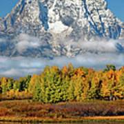 The Tetons In Autumn Art Print