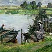 The Thames At Benson Art Print