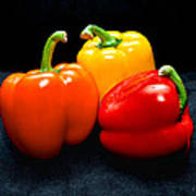 The Three Peppers Art Print
