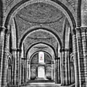 The Tombs At Fontevraud Abbey   France Art Print
