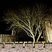 The Tower Of London At Night  Art Print