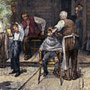 The Village Barber, 1883 Art Print