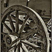 The Wagon Wheel Art Print