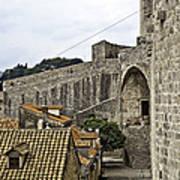 The Wall In Dubrovnik Art Print