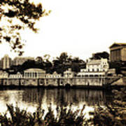 The Waterworks In Sepia Art Print