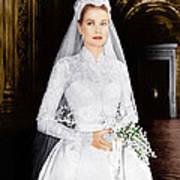 The Wedding In Monaco, Grace Kelly, 1956 Art Print by Everett