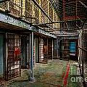 The West Virginia State Penitentiary Cells Art Print