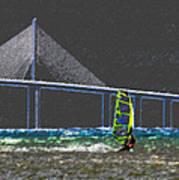 The Wind Surfer Art Print by David Lee Thompson