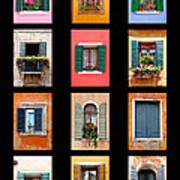 The Windows Of Venice Art Print