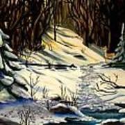 The Winter Trail Art Print
