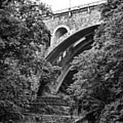 The Wissahickon Creek And Henry Avenue Bridge Art Print