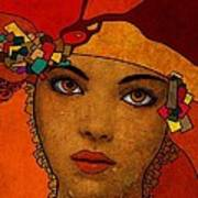 The Woman Ruby Art Print