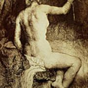 The Woman With The Arrow Art Print