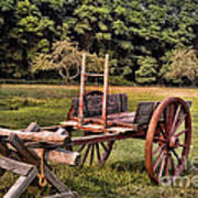 The Wooden Cart Art Print