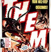 Them 1954, Poster Art Art Print by Everett