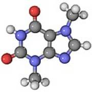 Theobromine Molecule Art Print