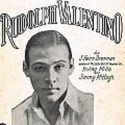 There's A New Star In Heaven Tonight Rudolph Valentino Art Print