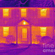 Thermogram Of A House In Winter Art Print
