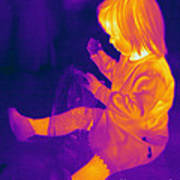 Thermogram Of A Young Girl Art Print