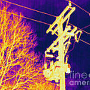 Thermogram Of Electrical Wires Art Print by Ted Kinsman