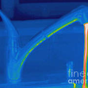 Thermogram Of Hot Water And A Faucet Art Print