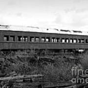 This Old Train Has Seen Better Days . Black And White . 7d8994 Art Print