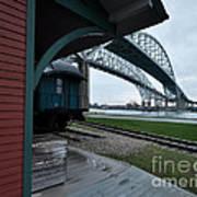 Thomas Edison Depot And Blue Water Bridges 2012 Art Print