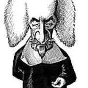 Thomas Hobbes, Caricature Art Print