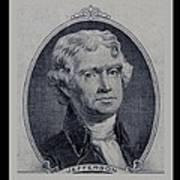 Thomas Jefferson 2 Dollar Bill Portrait Art Print