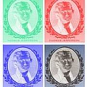 Thomas Jefferson In Negative Colors Art Print