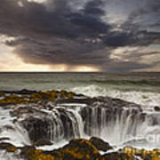 Thor's Well Art Print by Keith Kapple