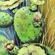 Those Bloomin' Cactus Art Print
