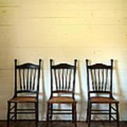 Three Antique Chairs Art Print by Jill Battaglia