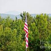 Three Flags And Kennesaw Mountain Art Print