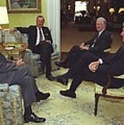 Three Former Presidents Gerald Ford Print by Everett