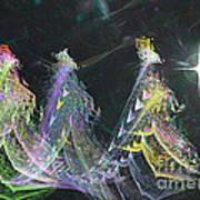 Three Kings Moon Star Art Print