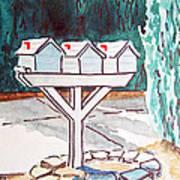 Three Mailboxes Sketchbook Project Down My Street Print by Irina Sztukowski