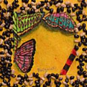 Three Mariposas Art Print