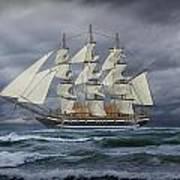 Three Masted Ship Art Print