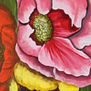 Three Strange Poppys Art Print