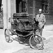 Three-wheel Automobile Art Print