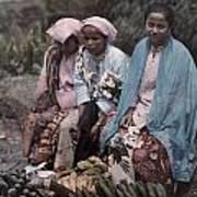 Three Women Traders Sit Art Print