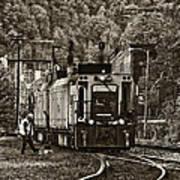 Thurmond Wv Train Sepia Art Print